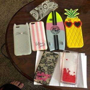 PINK Victoria's Secret Accessories - Lot of seven iPhone 6 cases